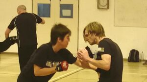 couples training in krav maga for self defence together