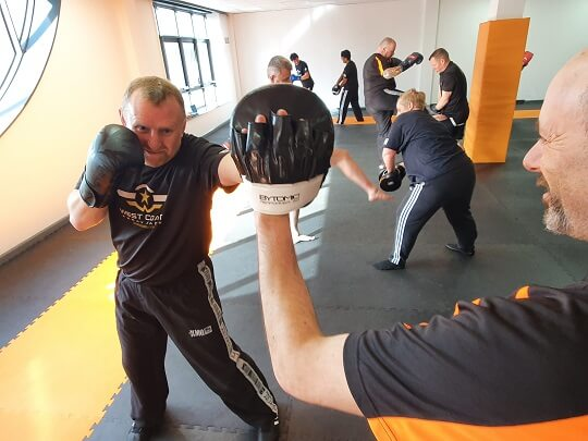Krav Maga Getting a sweat on